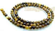 "SALE Small 4mm Round natural tiger's-eye loose Beads strand 15""-los612"