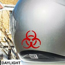 Hyper Reflective Biohazard Decal Motorcycle Helmet Safety Sticker #077R