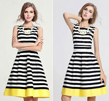 Sexy Women Ladies Summer Sleeveless Evening Party Cocktail Casual Short Dress UK