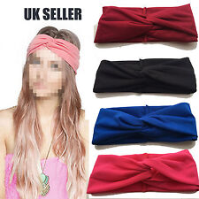 UK Ladies Soft Turban Twist Headband/Head Wrap Twisted Knotted Knot Hair Band