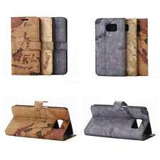 Antique World Map Leather Skin Case Cover Protector For Samsung Galaxy S6 SVI 4G