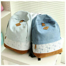 Homecoming Girls Vintage Denim Satchel Backpack Rucksack Shoulder School Bag