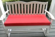 """Red Cushion for Bench ~ Swing ~ 3"""" thick foam ~ Select Size ~Indoor Outdoor"""