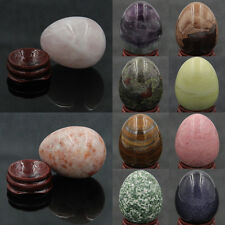 Wholesale Natural Gemstone Crystal Reiki Healing Sphere Egg W/Stand