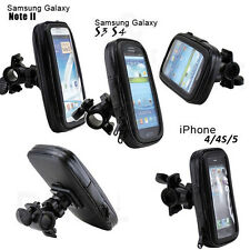 Waterproof Motorcycle Bike Bicycle Handlebar Mount Holder Case For Mobile Phones