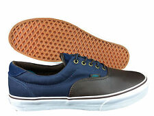 VANS. Era 59. Brown Leather / Distressed Blue. Cord Laces. Mens US Size 13.