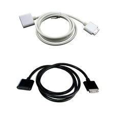 30 Pin Data Sync Charger Extension Cable For Apple iPhone 3GS 4S iPod Touch Nano