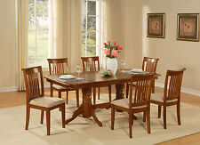 NAPO9-SBR 9 Piece dining room table set Table with a Leaf and 8 chairs for dinin