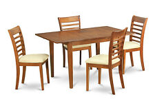 MILA5-SBR 5 Piece small kitchen table set- tables and 4 Dining Room Chairs