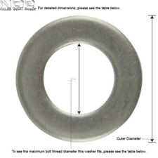 A4 Marine Grade Stainless Steel Thick Washers - Form A Washers - *ALL SIZES*