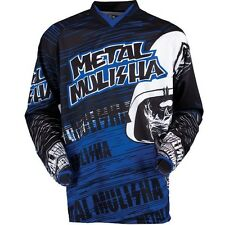 NEW Metal Mulisha BLUE Maimed Jersey motocross atv off road