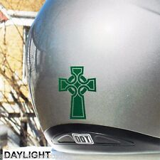 Hyper Reflective Celtic Cross Decal Motorcycle Helmet Safety Sticker #676R