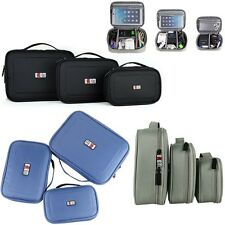 3in1 3pcs Carrying Travel Organizer Bag USB Power Bank Cable Storage Pouch Case