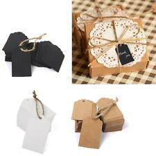 100pcs Kraft Paper Gift Cards Wedding Scallop Price Label Blank Luggage Tags