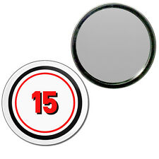 15 Certificate - Round Compact Glass Mirror 55mm/77mm BadgeBeast