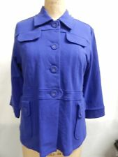 Motto 3/4 Sleeve Button Down Belted Knit Jacket S Blue New With Tags