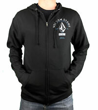 VOLCOM. Black Mens Zip Up Jumper With Pockets. Size Medium, Large, X-Large.
