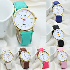 Relojes Fashion Women's Leather Watch Lady Quartz Dress Wrist Watch Girls Gift