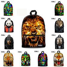 3D Animal Women Travel Backpack/Canvas School Bags/Teenagers Mochilas Rucksack