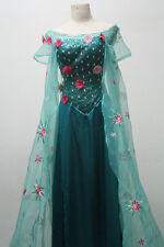 2015 Movie Frozen Hot Princess Elsa snow queen cosplay costume Dress Adult NEW