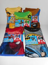 Boys Flannel Pajama Set Spiderman Batman Scooby doo Minon Turltles various sizes