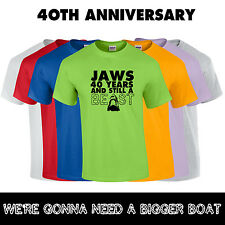 Jaws 40th Anniversary T Shirt Jaws Movie Shark T-Shirt LIMITED EDITION