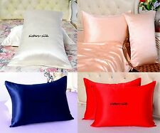 100% Pure Silk Pillowcase Standard Queen King Cot Baby Travel Body Size 14 Momme