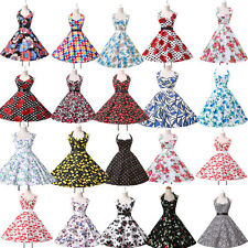 Vintage Style Retro Dress 50s Rockabilly Swing Pin up Evening Dresses Plus Size