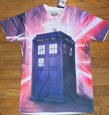 Dr Who Doctor Who British Flag & Tardis Adult T-Shirt Tee Officially Licensed