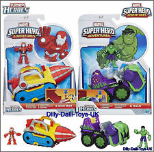 NEW Marvel Playskool Heroes IRON MAN Repulsor Drill Or HULK Smash Mobile Figure