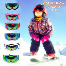 Children Snow Tinted Ski Snowboard Goggles Glasses Double Layer Anti Fog / Shake
