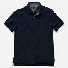 Tommy Hilfiger Polo Shirt Sleeve Mens Solid Casual  Flag Logo Nwt  M L Xl XXL