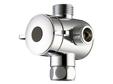 "Shower Head Diverter Valve - 1/2"" Three Way T-adapter Valve"