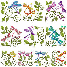 * DRAGONFLIES * Machine Embroidery Patterns * 10 Designs in 2 Sizes