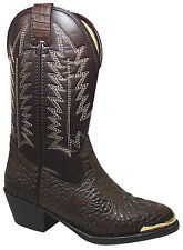 Smoky Mountain Boots Youth Boys Gator Brown Faux Leather Cowboy