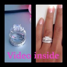 3.88CT Princess Cut Engagement Wedding Ring Diamond Ring Fine 22KT Made in Italy
