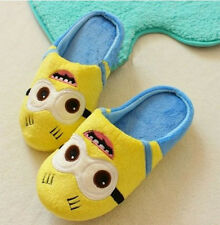 Unisex Despicable Me Cartoon Plush Slipper Minions Soft Indoor Shoes