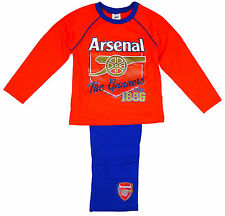Boy's Pyjamas Official Pj's Arsenal FC The Gunners AFC 1886 4 to 12 Years
