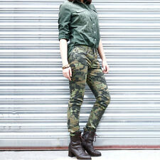 Anladia Women Camo Military Army Cargo Pencil Skinny Jeans Trousers Camouflage