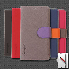 Macsight Stand Feature Hand-made Synthetic Leather Wallet Case for Galaxy Note 4