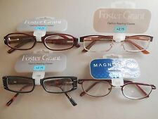 Lot of 4 +2.75 Pairs Foster Grant Ladies Handcrafted Fun Frames Reading Glasses