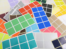 26mm Square (1 Inch) Colour Code Stickers Coloured Sticky Labels - 32 Colours