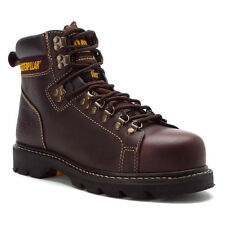 Men's Caterpillar Work Boots Alaska FX ST TechniFlex Brown Steel Toe P89370 Wide