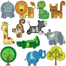 PATCHY ZOO * Machine Applique Embroidery Patterns * 12 Designs, 2 sizes