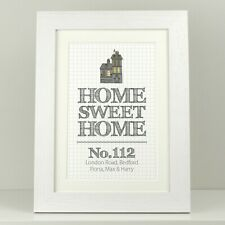 Personalised print poster / Home sweet home new house gift / First home VA029