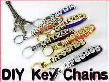Custom Personalized Leather Strap Keychains - Letters, Numbers, Symbols