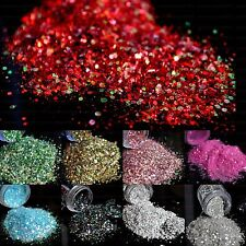 PET High Shimmer Nail Art Glitter Mix Size and Strip Iridescent Laser 23 color