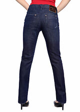 Womens Straight Leg Jeans Slim Denim Leggings Pants Classic Trousers Sz 8-14