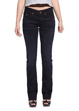 Women Slim Jeans Dark Blue Heavy Denim Trouser Jegging Straight Leg Pants