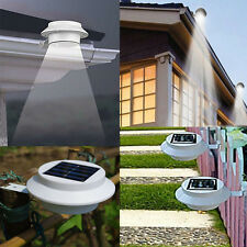 Solar Power Powered Outdoor Garden Light Gutter Fence LED Wall With Bracket